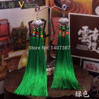 Wholesale 2015 New arrival Chinese ethnic handmade tassels earrings for women