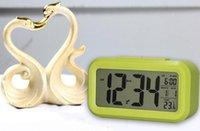 Wholesale Digital Snooze Electronic Alarm Clock Despertador Watches with LED Backlight Light Calendar Control PTSP