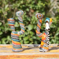 Wholesale Colorful Glass Water Pipes Bongs Glass Percolator Bongs mm Joint Oil Rigs Glass Bongs MS005