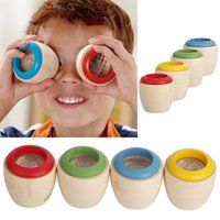 Wholesale Cute Wooden Educational Magic Kaleidoscope Baby Kid Children Learning Puzzle Toy