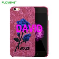 art leather phone covers - iPhone S For iPhone Plus S Plus Elegant Art Rose Embroidery Slim Leather Back Phone Cover I6 S Plus