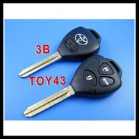 Wholesale 10pcs for toyota Camry Reiz transponder remote key shell button with the best price