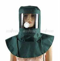 abrasive blasting equipment - Blasting Caps Hood Sand Abrasive Grit Shotsandblaster Mask Anti Dust Equipment Free Express order lt no track