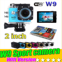 Wholesale Sport Cameras SJ4000 Style Wifi Version Waterproof p W9 Inch Screen HD Action Camera Mini DV M Waterproof Extreme Sport Camera