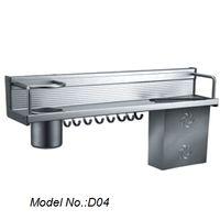 best wall shelves - best selling aluminium alloy wall hanging kitchen storage shelf storage rack shelves with hooks model no D04