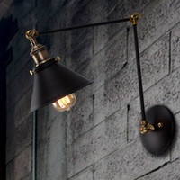 Wholesale Wall light Vintage industrial style loft balcony aisle stairs corridor creative minimalist restaurant bar long arm wall lamp