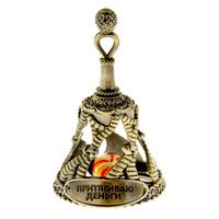 attract money - 2015 New products for crafts classic golden bells for the New Year decoration of attracts more money the Russia bells