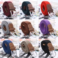 Wholesale Luxury Designer Belts For Men Women Gucciingly Adjustable Waistband Leather Elastic Weave Belts Alloy Buckle Mix Colors Choose QBF