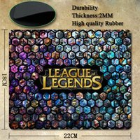 Wholesale League of Legends logo Wallpaper Silicone gaming mouses mat Pictures real pad for choices
