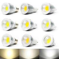 Wholesale LED Spotlight Super Bright COB Light Source High Power LED Lights Aluminum Alloy Shell Energy Saving LED w w w AC85 V E27 GU10