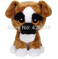 big dog boxers - New Original TY Beanie Boos Big Eyed Stuffed Animals Brutus Boxer Dog Plush Toys For Children Gifts Kids Toys CM