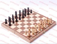 board game pieces - New Arrival Top Quality Wooden Chess Pieces Set Staunton Style Chessmen Collection Portable Folding Board Chesses Game
