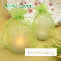 apple school supplies - Apple Green cm Sheer Organza Bag Wedding Favor Supplies Gift Candy Bag