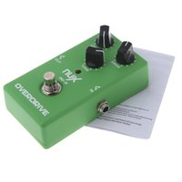 Wholesale Electronic New NUX OD Overdrive Guitar Guitarra Violao Electric Effect Pedal Ture Bypass Green Musical Instrument Parts Via DHL