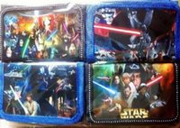 Wholesale 50pcs Star Wars Kids Purse Children s Nylon Wallets Black Knight Darth Vader Stormtrooper Wallet