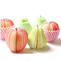 apple shaped notepad - Fruit Note Memo Pads Portable Scratch Paper Notepads Post Red Apple Green Pear Shape Note Memo Pads