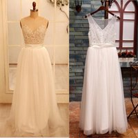 Cheap Beach Wedding Dresses Best Cap Sleeve Appliques