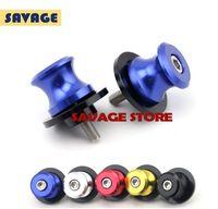 aprilia swingarm - For Aprilia SMV Dorsoduro RSV R Blue Motorcycle CNC Aluminum Swingarm Spools slider mm stand Screws