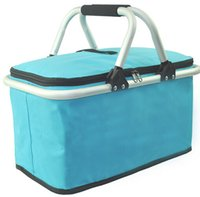 barbecue basket - Multicolor optional folding storage box outdoor barbecue picnic basket lunch bag ice pack cooler bag