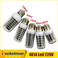 Wholesale E27 E14 Led Corn Light SMD V Bulb Lamp Leds Replace Incandescent W W W W lampada led Bombillas