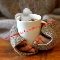 herbal tea gifts - 2014 New Cute Coffee Tea Infuser Loose mr Tea Leaf Strainer Herbal Spice Filter Diffuser Tea Strainer Wedding Party Gift Favor