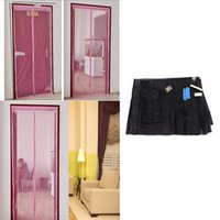 Wholesale Mesh Insect Net Netting Mesh Screen Magnets Mosquito Door Curtain black cm