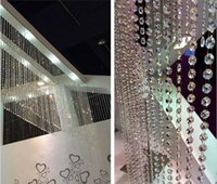 Wholesale 1 x Octagon FT Clear Glass Chandelier Wedding Crystal Lamp Bean Chain Prisms AE02092