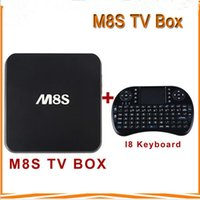 Wholesale M8S Android TV Box Amlogic S812 G G Xbmc Kodi G WiFi Rii I8 keyboard G Wireless Mouse with Battery