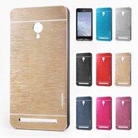 asus phones - For ASUS Zenfone Hard Case MOTOMO Metal Aluminium Brush Phone Back Cases Cover for ASUS Zenfone6 Zenfone5