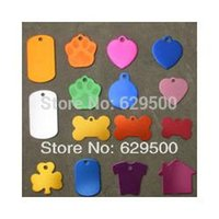 Wholesale 200pcs Quality All Kinds of Shape Designed Engravable Dog ID Tags Cat Name Tag Factory