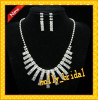 arrival earrings jewellery - New Arrival Wedding Jewelry Set Crystal Rhinestone Sparkly High Quality Jewellery Bridal Crystal Wrap Two Pieces Exquisite Wedding Dresses