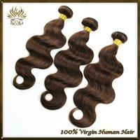 chocolate human hair weave - 6A Peruvian virgin hair body wave dark brown color Peruvian hair human hair weave chocolate brown color bundles a