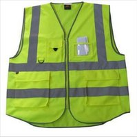 Wholesale Safety Clothing pockets high visibility adult traffic reflective safety vest sanitation worker reflective vest fishing vest