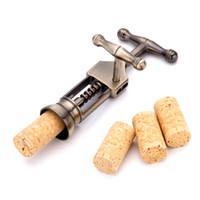 wine cork - Vintage Alloy Wine Bottle Opener Corkscrew Metal Cork Puller Wedding Banquet Party Prom Decorative Favors ww101