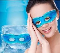 Wholesale Cheap Summer Therapeutics Soothing Beauty Eye Mask Reusable Ice Cold Gel Eye Mask Relaxes Tired Eyes Diary Cool Protective Eyes Mask DHL