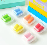 Wholesale Soft Orange Foam Ear Plugs Tapered Travel Sleep Noise Prevention Earplugs Noise Reduction For Travel Sleeping DHL