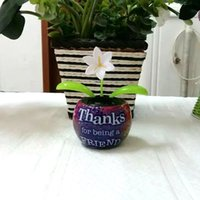 Wholesale Solar Power Flower Pot - Wholesale-Free Shipping 15 Pieces Retail Package Swing No Battery No Water Novelty Christmas Gifts Print Pot Solar Powered Energy Flowers