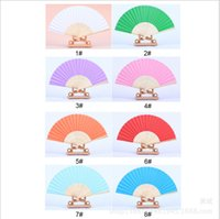 paper fans - cheap Chinese style white blue red pink paper hand fans hollow orange lilac bridal fans for wedding hand held folding fans