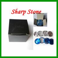grinders - Herb Grinder Metal Alloy Herb Tobacco Four Layered Grinder Cigar Spice Crusher Cigarettes Machine Sharp Stone Grinder Magnet Strainer