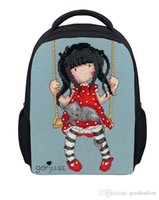 Wholesale Girl Printing Cute Cartoon School Bags inches Girls Backpack Gift For Kids Retail