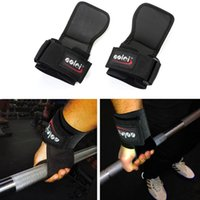 Wholesale 1 Pair Brand Adjustable Wrist Support Weight Lifting Hooks Gloves Training Gym Grips Straps Support Fitness Equipment