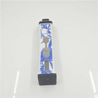 Single Blue and White Plastic Titan 2.0 Style Snoop Dogg V2 Temp Control Dry Herbal Vaporizer Pen 2200mAH Battery Huge Vapor Ecig Starter Kits VS Titan 2 herb vaporizers