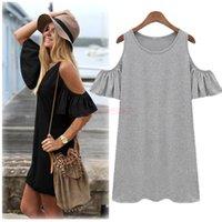 womens black dress shirt - New Fashion Summer Dress Women Butterfly Sleeve Strapless Dress Novelty Womens Cute T Shirt Dresses Plus Size M XX Roupas Femininas SV001731