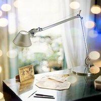 aluminium home decor - Modern Brief Foldable Table Lamp E27 Bulb Use Living Room Bedside Office Lights Aluminium Material Home Decors Book Lights order lt no track