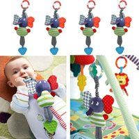 Cheap S New Music Elephant Lathe Hang Baby Kids Dolls Multifunction Educational Toys Teether