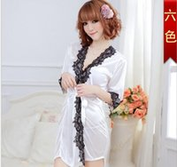 Wholesale trade in Europe and the ms lingerie sexy bud silk pajamas big yards Suit the shawl bathrobe