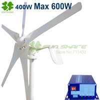 solar power generator - 400w wind turbine Max power w blades small wind mill low start up wind generator w wind solar hybrid controller