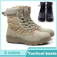 Wholesale Hight Moutain Tactical Boots Desert Combat Boots Shoes Summer Breathable Boots SAND AND BLACK RL35