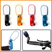 Wholesale Adjustable MTB Bike Bicycle Cycling Rearview Mirror Glass Mini Small Iron Handlebar Bar Yellow Black Red Blue