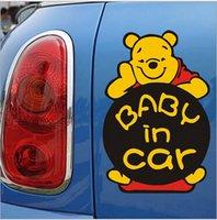 baby door signs - Baby In Car Sticker Winnie the Pooh Warn Sign Decel Cute Bear Decals Stickers On Car Window Fashion Lovely Safe Skin Sticker